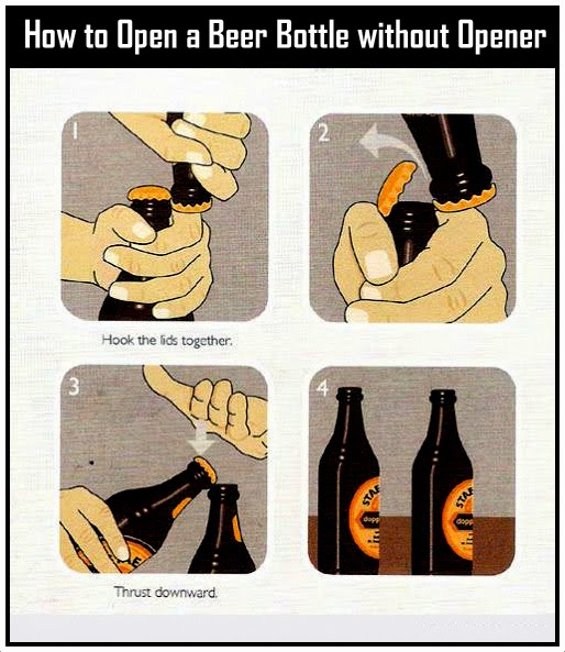 How to Open a Beer Bottle without Opener