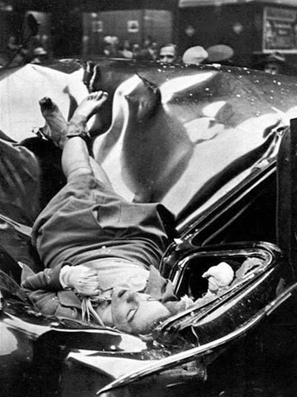 40 Must-See Photos Of The Past - A beautiful suicide – 23 year-old Evelyn McHale jumped from the 83rd floor of the Empire State Building and landed on a United Nations limousine, 1947