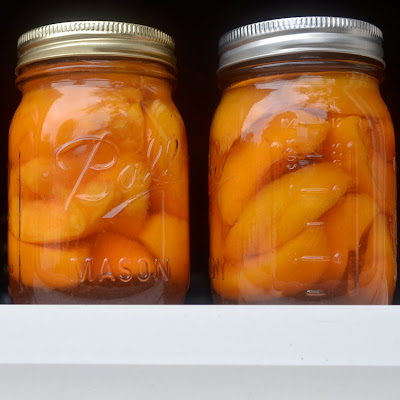 Kitchen Catharsis Brandied Peaches Tucked Away For Winter