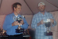 Clint Packo and Trevor Tanner Accepting The Carp-Slam V Trophies