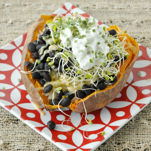 Savory Stuffed Sweet Potato