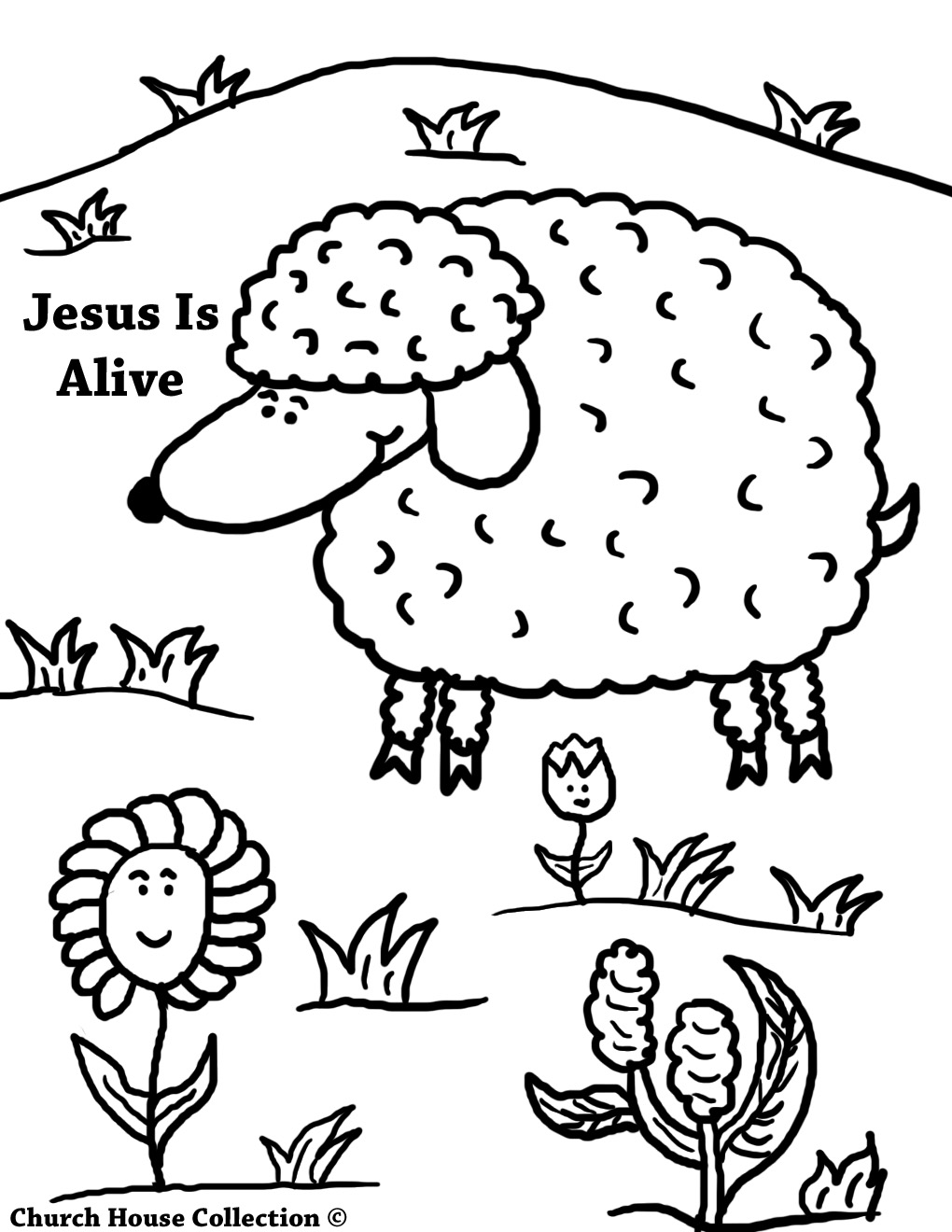 Jesus Is Alive Easter Coloring Pages For Kids