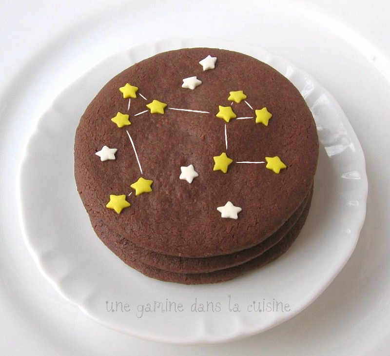 Aries Chocolate Constellation Sablés (cookie recipe adapted from ...