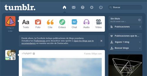 Como crear un blog en Tumblr | Iniciar sesion - crear ...