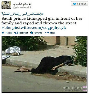 Putera Saudi Merogol dan Menculik?