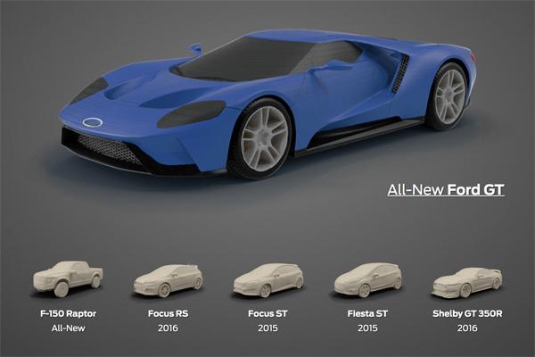 Ford abre la primer tienda online para realizar impresiones en 3D de los modelos de la marca