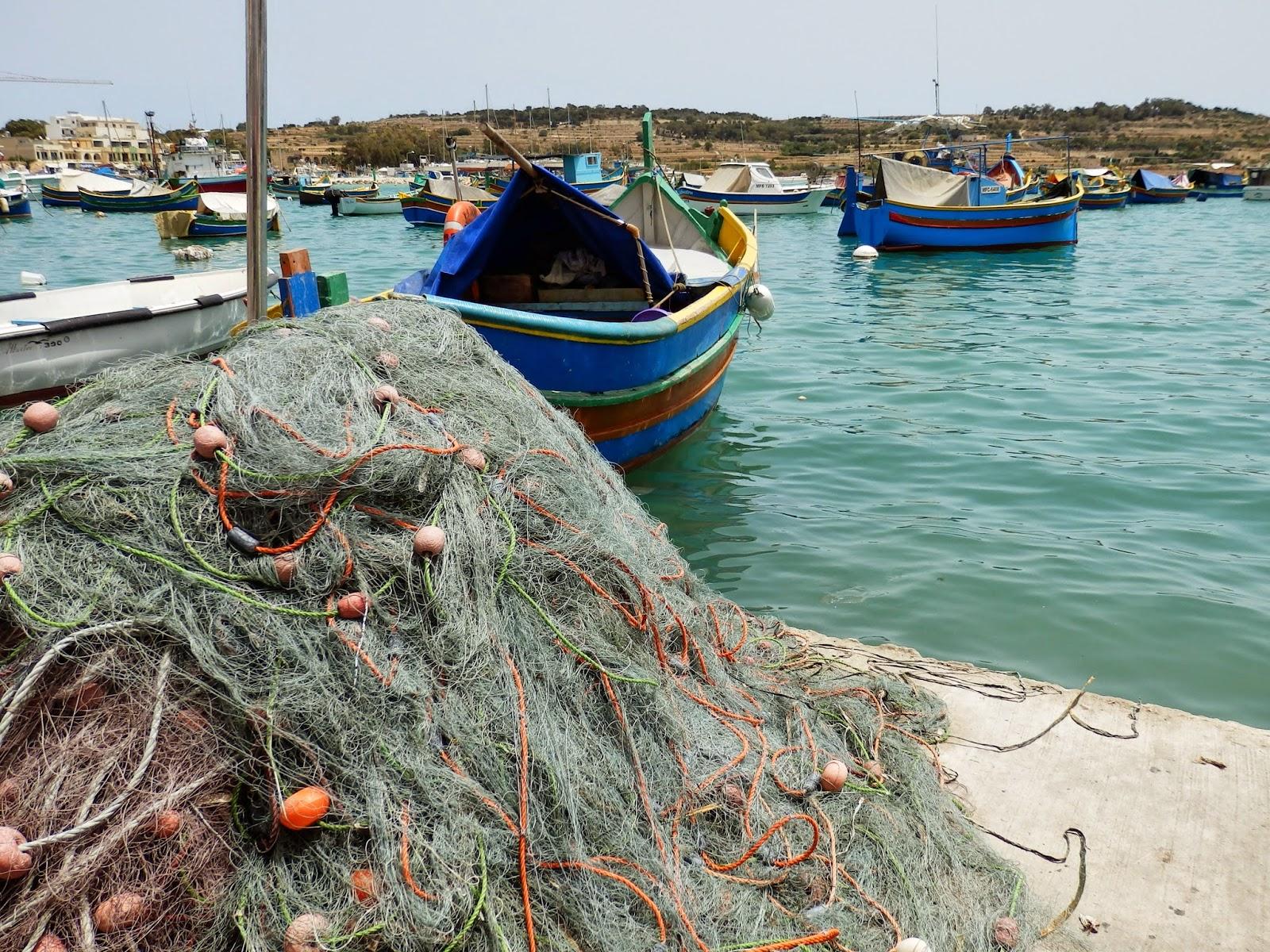 Fishing nets Marsaxlokk, Malta