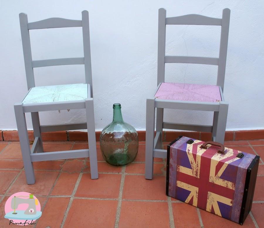 Antes y despu s de una silla de comedor manualidades for Como hacer sillas de madera para comedor