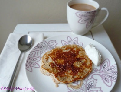 Low Cholesterol Cinnamon Apple Pie Pancakes
