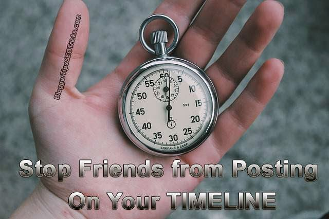 stop friends posting on your timeline