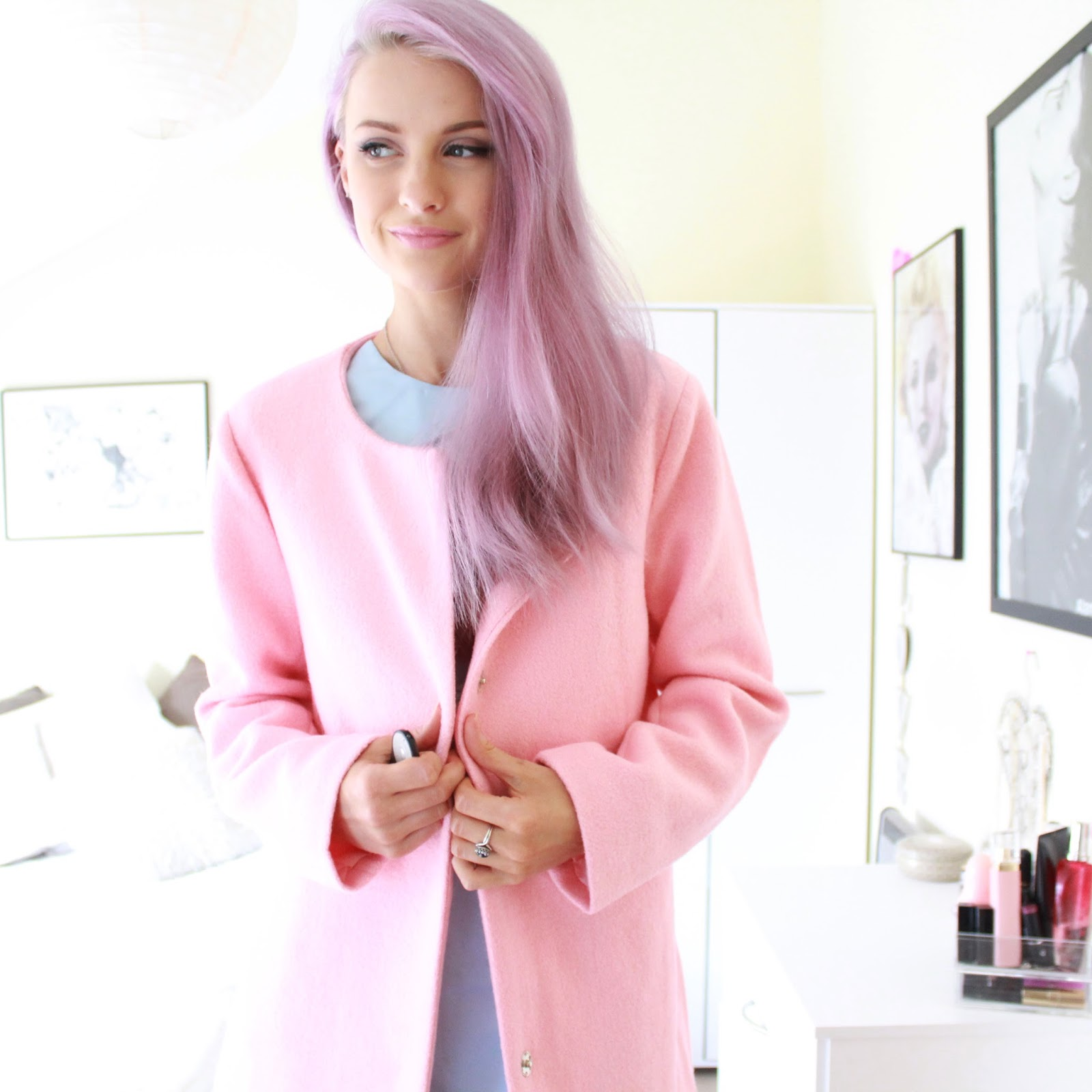 The Baby Pink Jacket with the Baby Blue Dress - Inthefrow