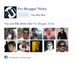 Add Facebook Like Box without Border in Blogger