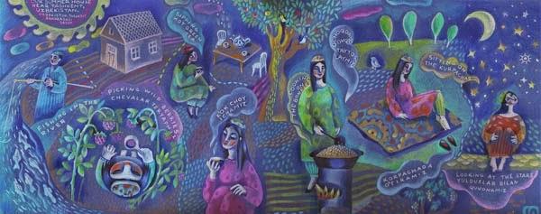 yulia drobova illustrator tashkent, yulia drobova graphic designer