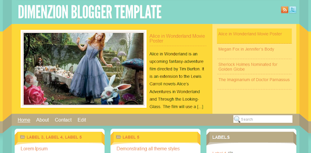 Bright Blogger Templates