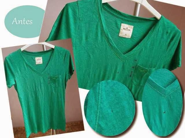 Blusa furada vira blusa com estilo criativo