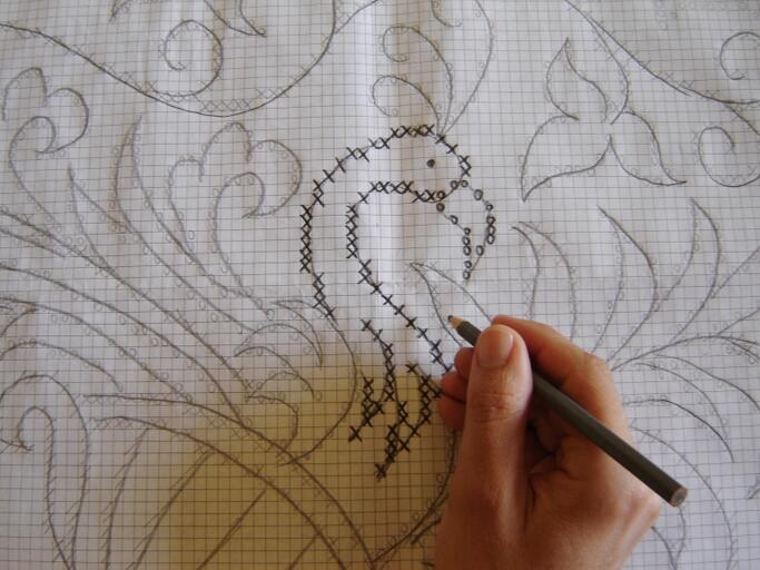 Contorno Do Desenho Na Tela Criado O Desenho Ele Sera Copiado Do