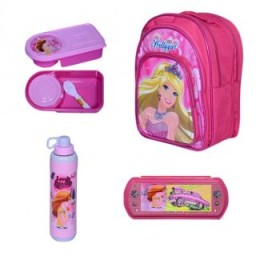 Buy Combo of School Bag + Water Bottle + Lunch Box + Pencil Box at Rs. 264