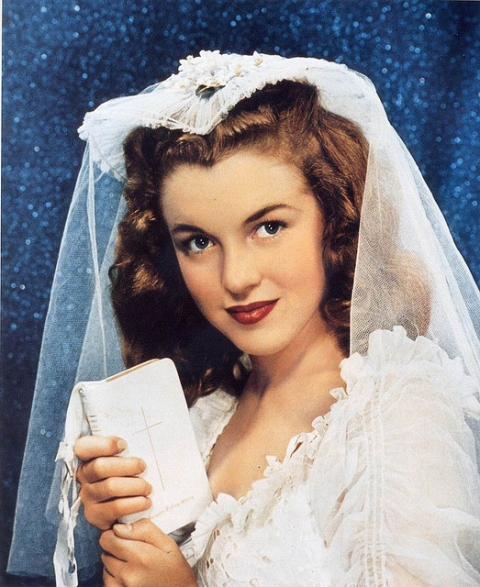 marilyn monroe as a bride