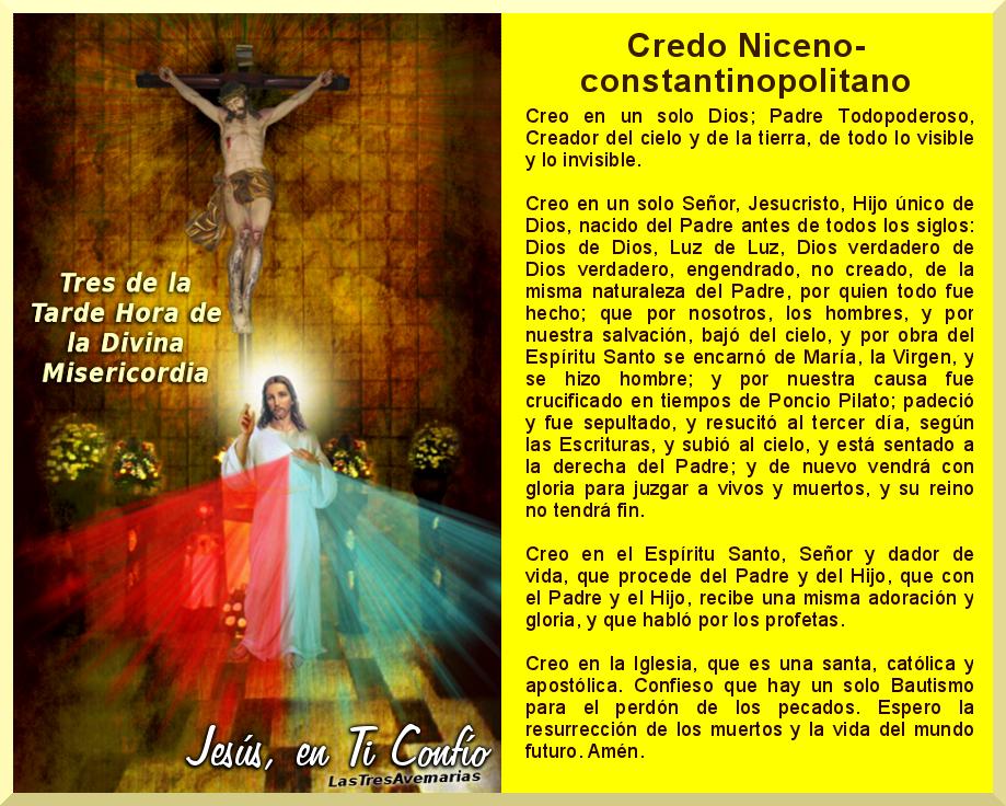 foto de la divina misericordia con el credo niceno
