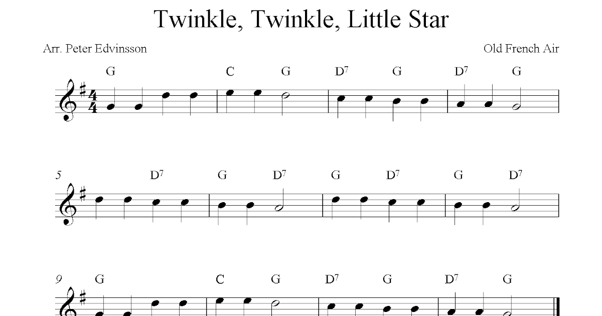 how to play twinkle twinkle on flute notes