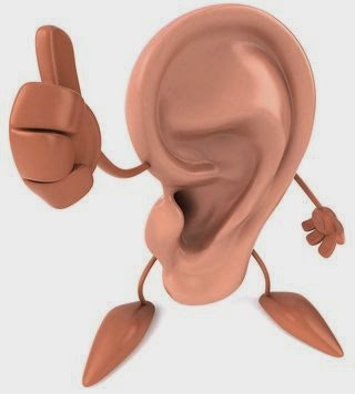 telinga ilustrasi