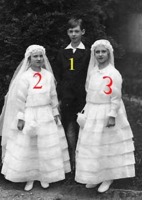 Jean, Marie-Gabrielle et Marie-Adélaïde de Luxembourg