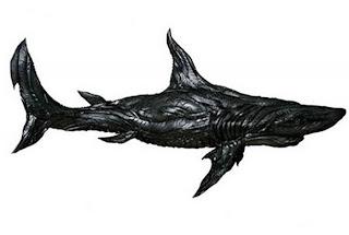 tubarão de pneu reciclado