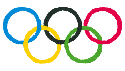 オリンピックのイラスト「オリンピックシンボル・五輪マーク」