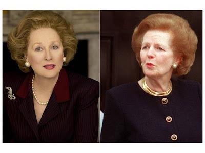 Meryl Streep como Margaret Thatcher en La dama de hierro con la directora Phyllida Lloyd