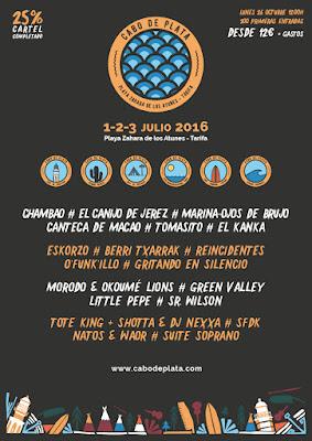 Cabo de Plata 2016: Nuevo festival en la playa de Zahara de los Atunes