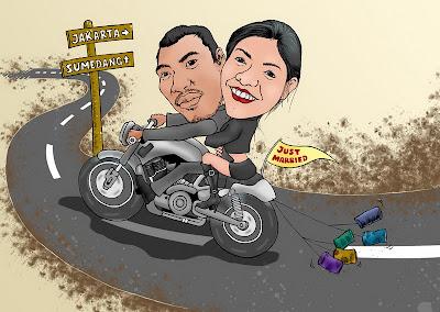 Restyna Prameswari - Karikatur Pesanan