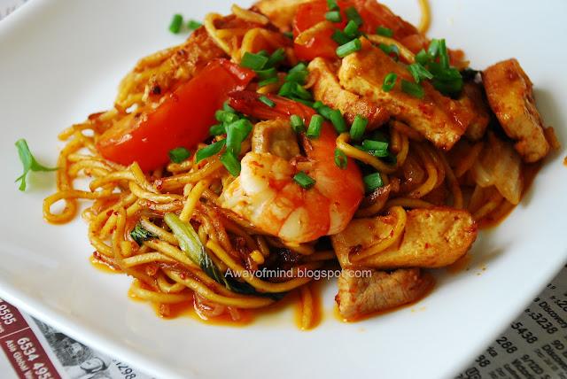 Awayofmind Bakery House: Mee Goreng (Indian/Mamak Style Fried Noodles)