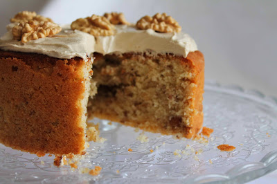 Cake de nueces y buttercream de café