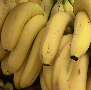 buah pisang yang matang