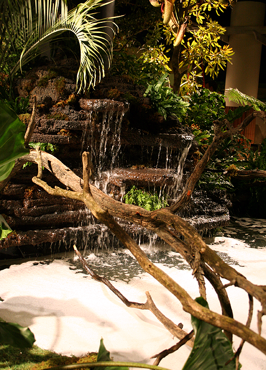 Tropical waterfall. Macy's Flower Show Chicago