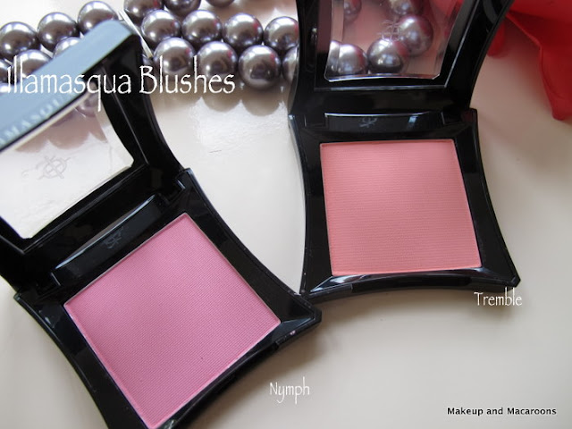 illamasqua blushes in nymph and tremble