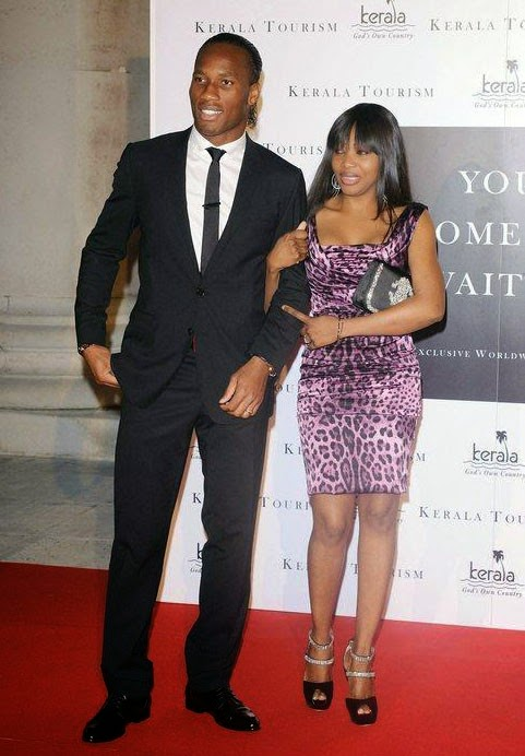 Couple Love - Didier Drogba And Malian Wife Lalla Diakite