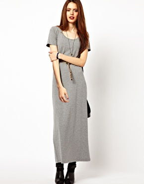 maxi T-shirt paired with boots