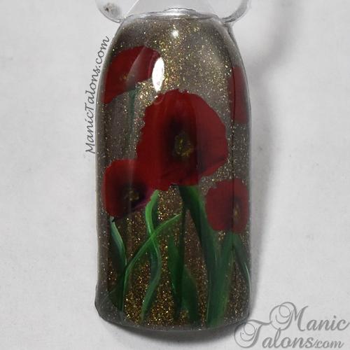 One Stroke Nail Art Poppies