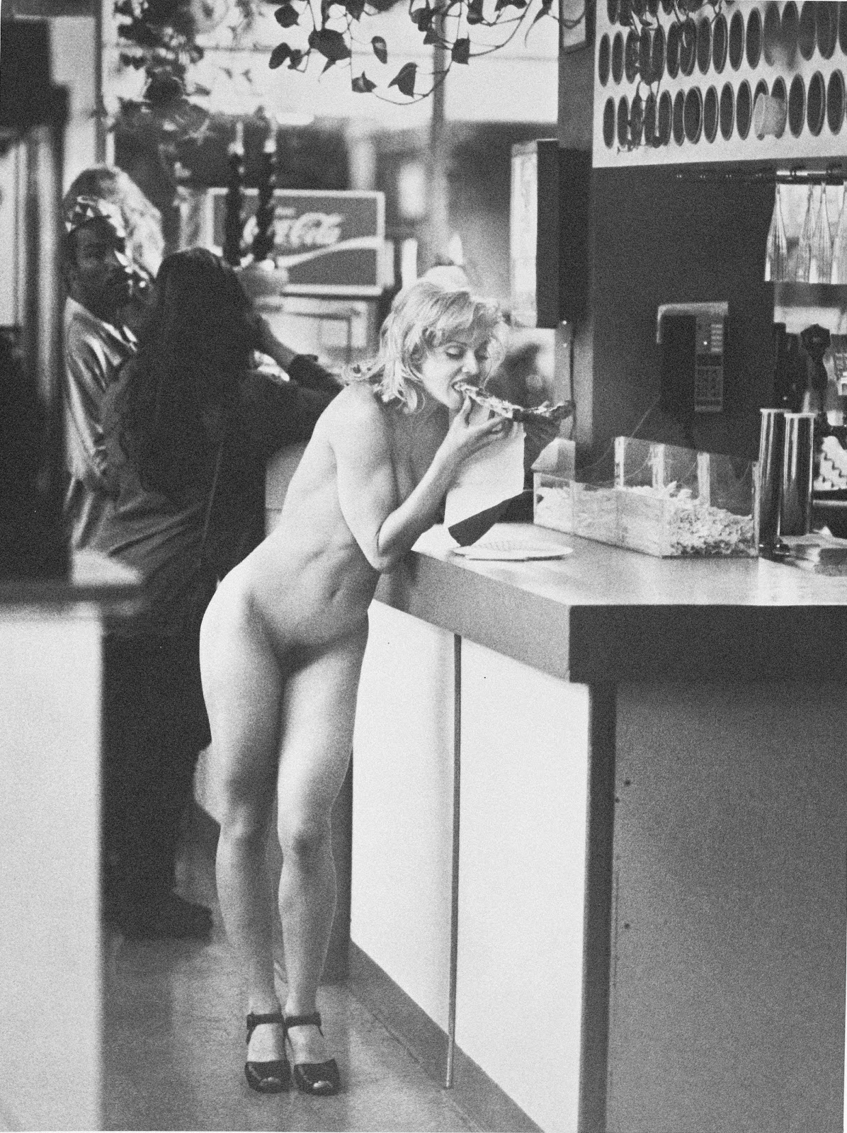 Madonna nude hitchhiker poster