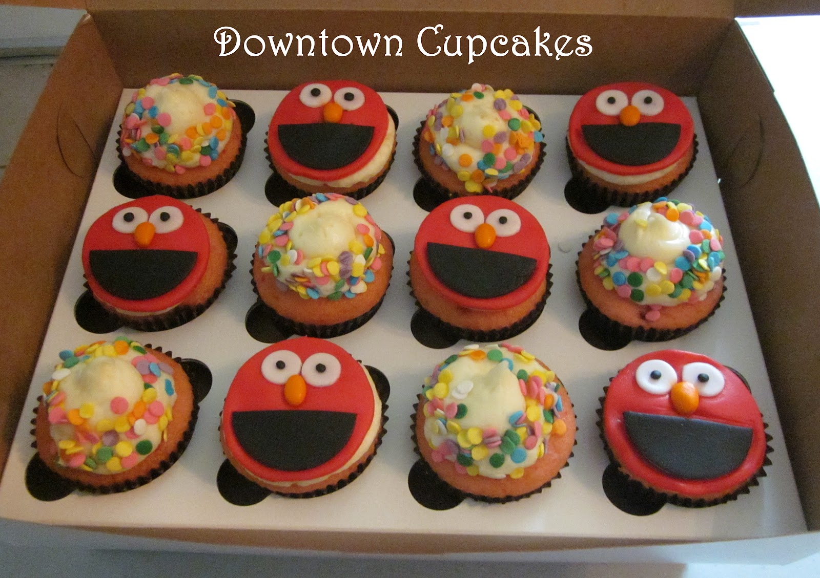 Downtown Cupcakes Elmo Birthday Cake For Bella