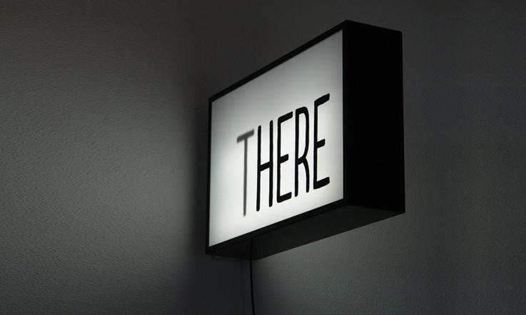 typography wall light