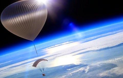 Depois de recuperar os materiais, descobriram uma pequena marca indicando que a pequena partícula não havia simplesmente aderido à superfície do balão como as demais.