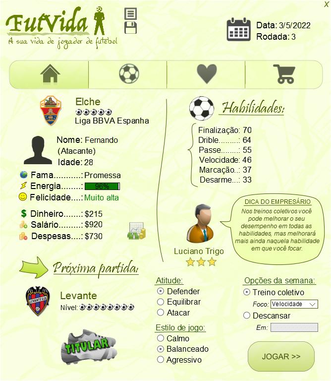 FutVida - A sua vida de jogador de futebol Screen_futvida1