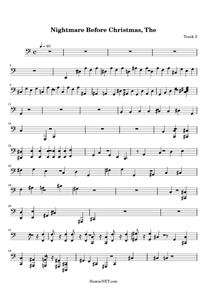 Music Notes: Nightmare Before Christmas Sheet Music