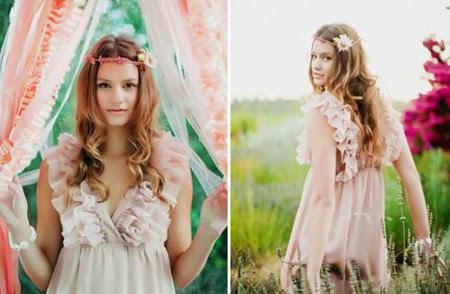 Xu hướng kiểu tóc cô dâu mùa thu 2014 mới lạ và bay bổng7