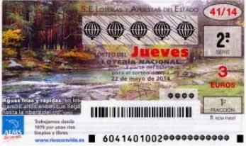 Detalle de los décimos del sorteo de lotería nacional del 22 de mayo