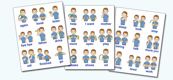 Stupendous image inside baby sign language flash cards printable