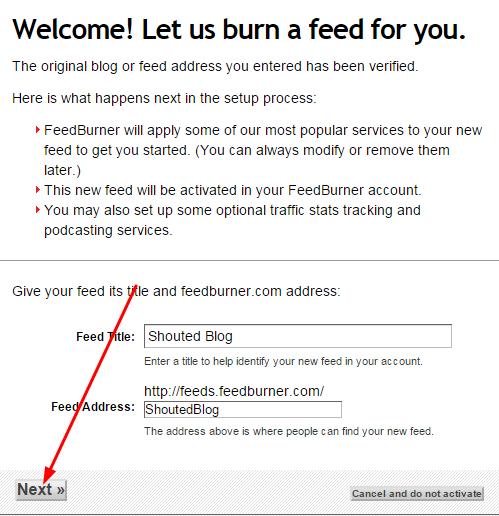 How To Set Up RSS Feed For Blogger Blog Using Google Feedburner