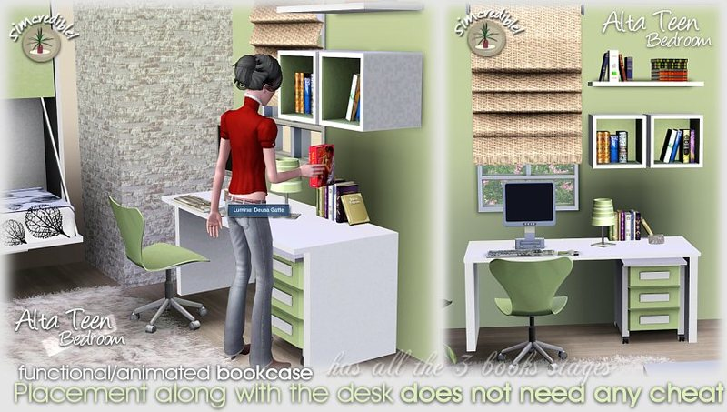 My sims 3 blog alta teen bedroom set by simcredible designs for Sims 4 bedroom ideas